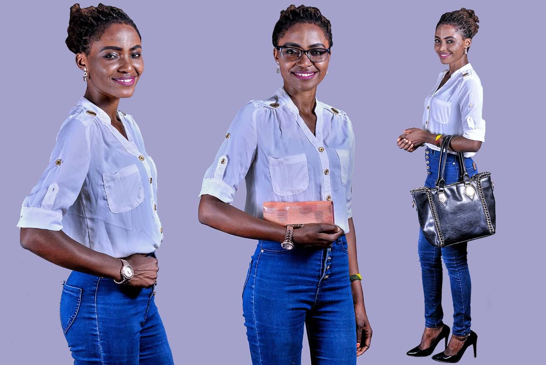 Look: Jean Slim  Taille Haute  en mode  classique
