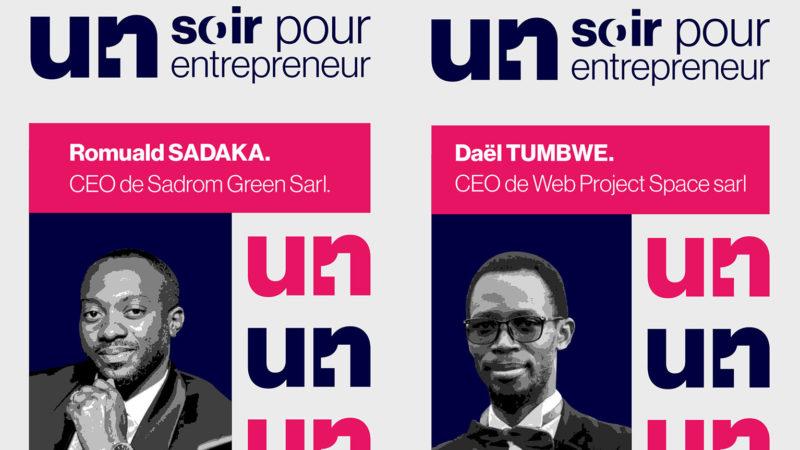 Romuald Sadaka et Daël TUMBWE sur le podium d'un soir pour un Entrepreneur.