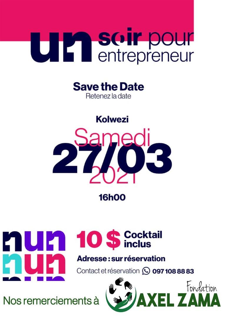 Prise en charge des frais de participations pour dix jeunes entrepreneurs à la soirée pour entrepreneurs par la Fondation Axel Zama.