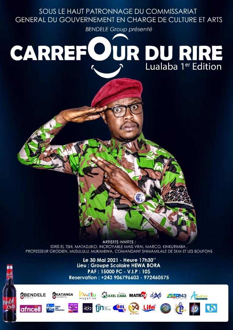 Du Rire au Lualaba dans la première édition du Carrefour du Rire.